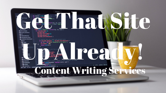 get that site up already: content writing services