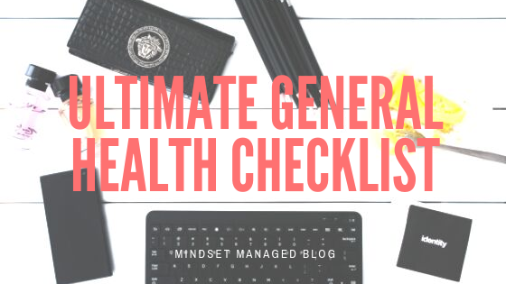 Ultimate General Health Checklist